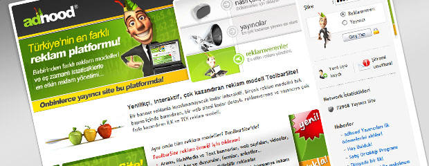 turkticaret.net adhood reklam platformu screenshot